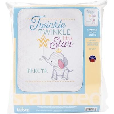 """Janlynn Stamped Quilt Cross Stitch Kit 34""""X43""""-Twinkle Twinkle Little Star"""