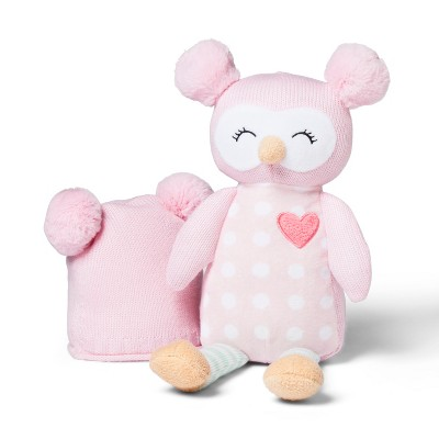 Plush and Hat Owl - Cloud Island™ Pink
