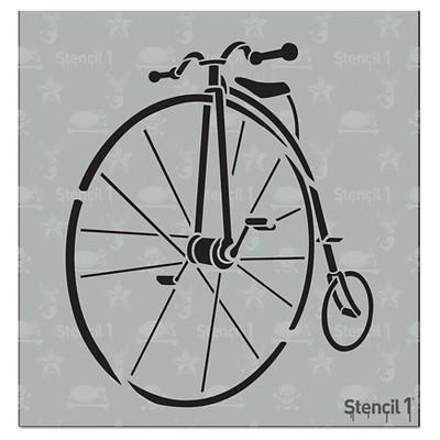 """Stencil1 Penny Farthing - Stencil 5.75"""" x 6"""""""