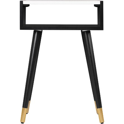 Clemintine Marble Top Side Table Black - Adore Decor