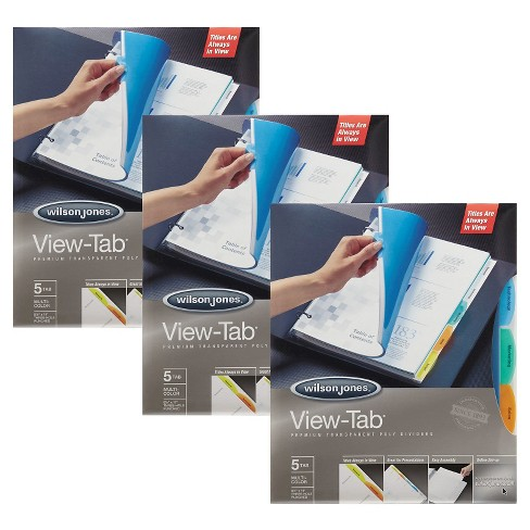View-Tab™ 5tab Multicolor Transparent File Divider - 3 Pack - image 1 of 1