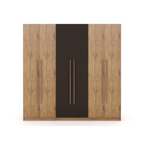 gramercy wardrobe armoire closet textured gray manhattan comfort