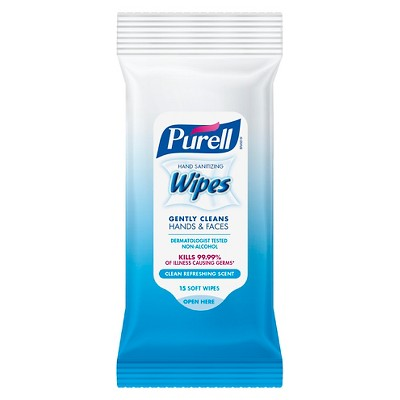 PURELL Hand Sanitizing Wipes Clean Refreshing Scent - Trial Size - 15ct
