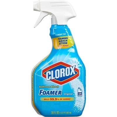Clorox Bathroom Foamer with Bleach Spray Bottle Original - 30oz