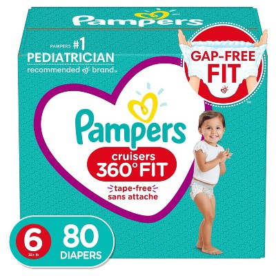 Pampers Cruisers 360 Disposable Diapers Enormous Pack - Size 6 (80ct)