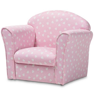 Erica Heart Upholstered Kids' Armchair Pink - Baxton Studio