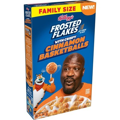 Frosted Flakes Shaq Cinnamon Crunch Family Size -16.47