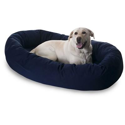 Majestic Pet Sherpa Bagel Dog Bed - Blue - X-Large - 52