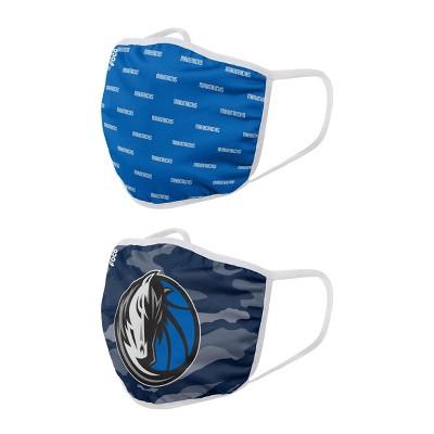 NBA Dallas Mavericks Adult Face Covering 2pk