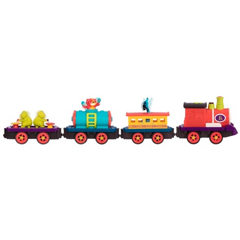 B Toys Critter Express Musical Electric Toy Train With Steam And