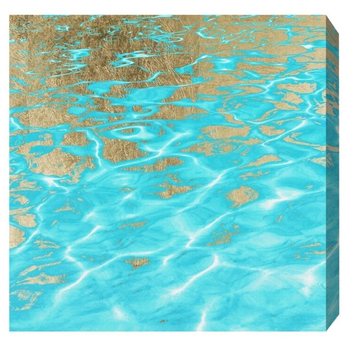 """Oliver Gal Unframed Wall """"Pristine Waters"""" Canvas Art (20x20) - image 1 of 2"""