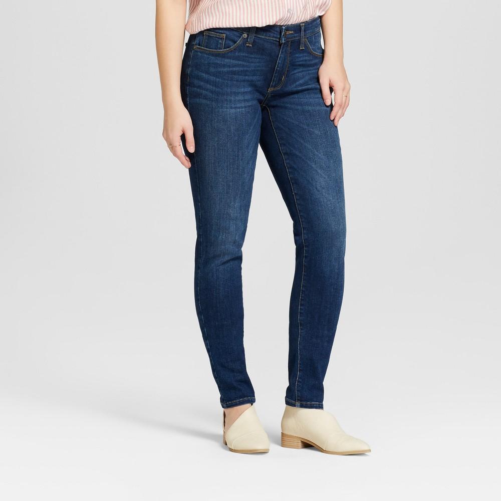 Best Online Women Mid Rise Curvy Skinny Jeans Universal Thread Dark Wash 0 Short Blue