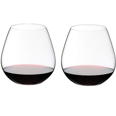 Riedel O Wine Dishwasher Safe Fine Crystal Stemless Pino/Nebbiolo High Acidity Moderate Tannin Red Wine Tumbler Glass Set, 24.3 Ounces, (2 Pack)