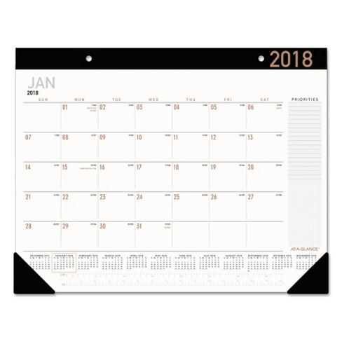 AT-A-GLANCE® Contemporary Monthly Desk Pad 21 3/4 x 17 2018 - image 1 of 2