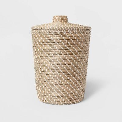 Solid Bathroom Wastebasket Tan - Opalhouse™