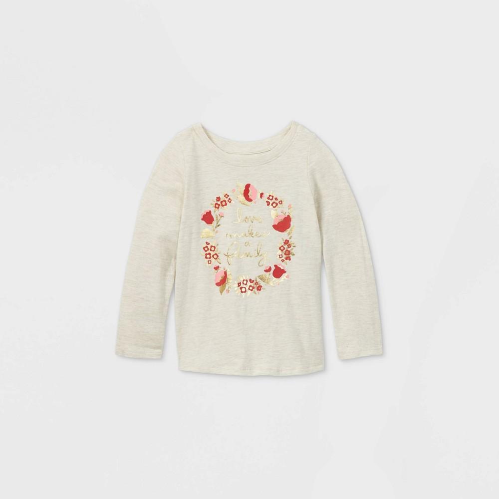 Reviews Toddler Girls' 'Love Makes a Family' Long Sleeve T-Shirt - Cat & Jack™