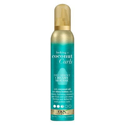 OGX Locking + Coconut Curls Decadent Creamy Mousse - 7.9oz