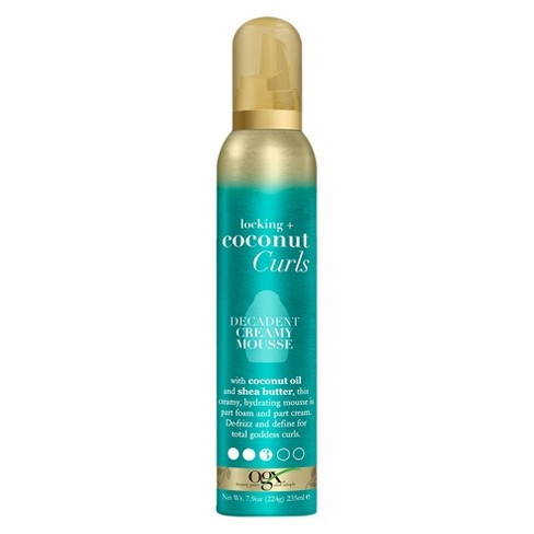 OGX Locking + Coconut Curls Decadent Creamy Mousse - 7.9oz - image 1 of 3