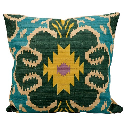 "Clover Ikat Throw Pillow (18""x18"") - Nourison - image 1 of 1"