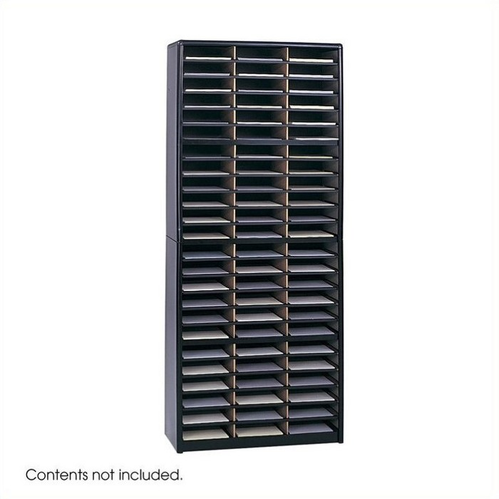 Steel Value Sorter 72 Compartments Flat Files Organizer in Black-Safco - image 1 of 3