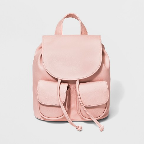 Drawstring Mini Backpack - Wild Fable™ Peach - image 1 of 5