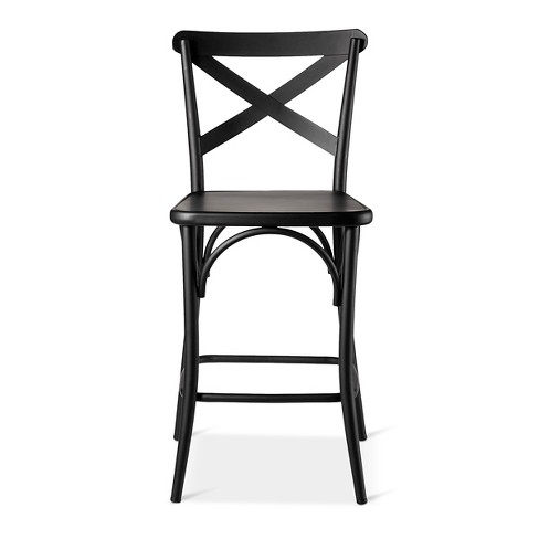French Bistro High Back Counter Stool