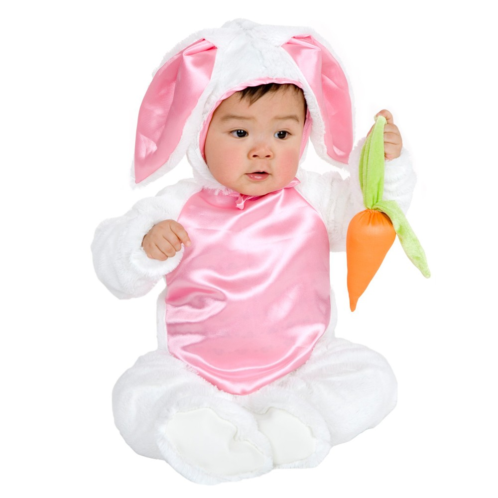 Image of Halloween Baby Plush Bunny Costume 0-6M - Charades Costumes, Adult Unisex, Size: 0-6 Months, Pink