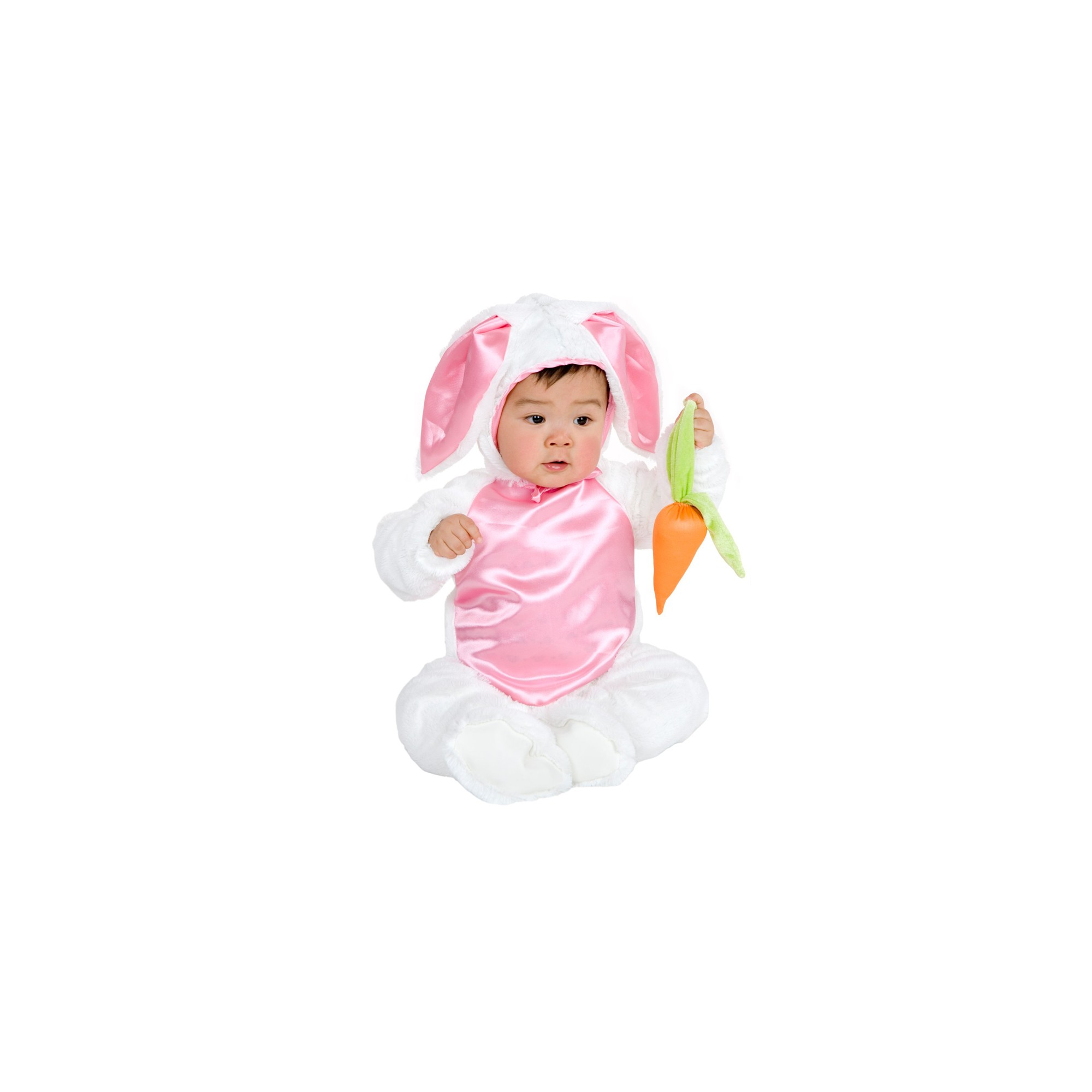 Halloween Baby Plush Bunny Costume 0-6M - Charades Costumes, Adult Unisex, Pink