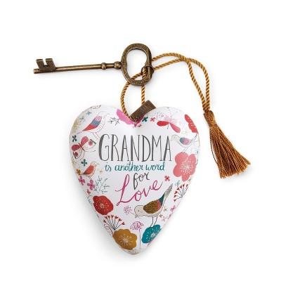 "DEMDACO Grandma Art Heart 4"" - White"