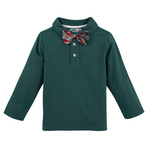 G-Cutee Toddler Boys' Polo Shirt and Bowtie - Green 6 - image 1 of 1