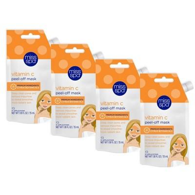 Miss Spa Vitamin C Peel-Off Mask - 4pk/1.18 fl oz