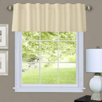 "Commonwelath Thermalogic Prescott Insulated Dual Header Valance With 8 Tabs & 3"" Rod Pocket - (60""x16"")"
