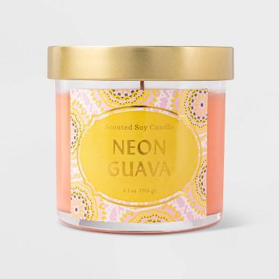 Lidded Jar Neon Guava Candle - Opalhouse™