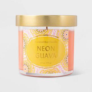 4.1oz Lidded Jar Neon Guava Candle - Opalhouse™