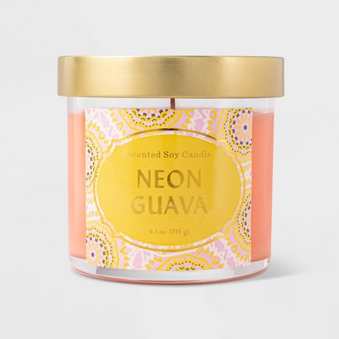 Lidded Jar Neon Guava Candle - Opalhouse™ - image 1 of 2
