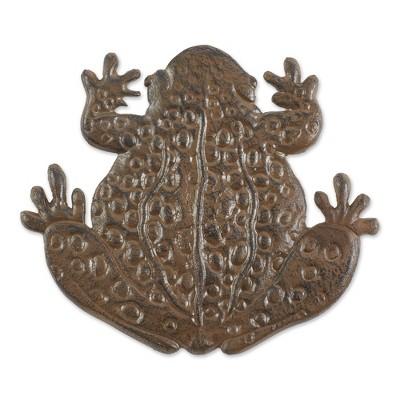 Cast Iron Frog Stepping Stone Bronze - Zingz & Thingz