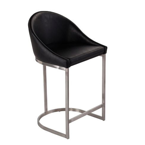 Fantastic Blake Faux Leather Counter Stool Black Aiden Lane Short Links Chair Design For Home Short Linksinfo