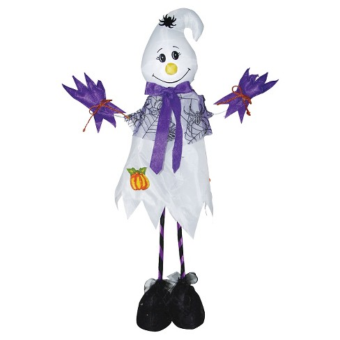 "28"" Halloween Standing Scarecrow Ghost - image 1 of 1"