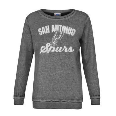 NBA San Antonio Spurs Women's Distressed Classic Sweatshirt