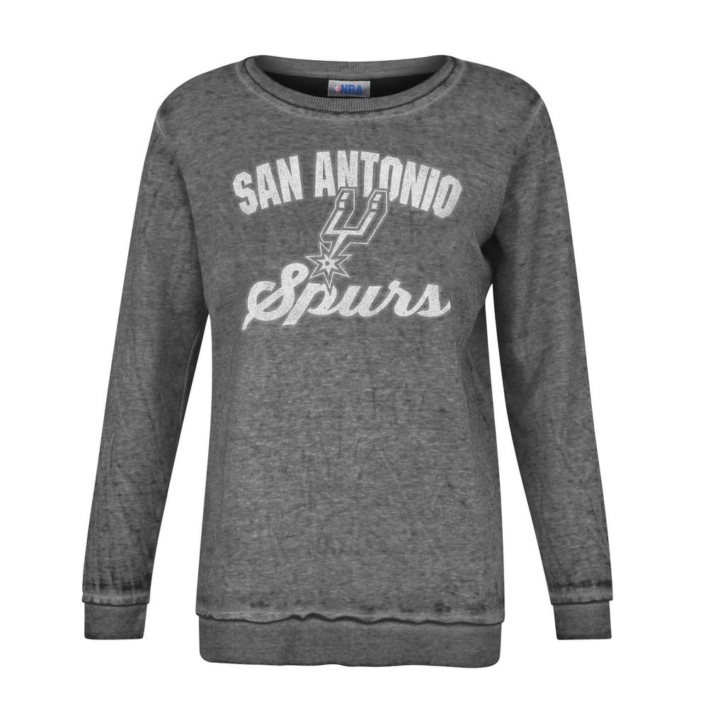 Nba San Antonio Spurs Women 39 S Distressed Classic Sweatshirt L