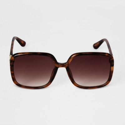 Women's Tortoise Shell Oversized Square Sunglasses - A New Day™ Brown