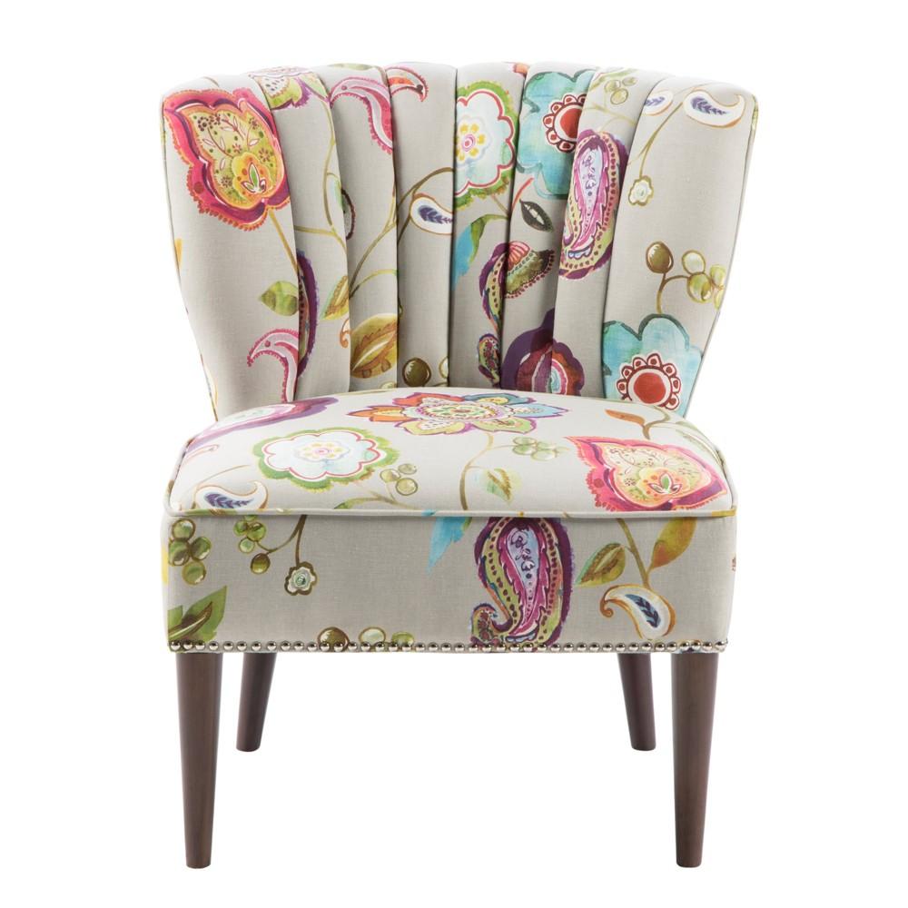 Remy Channel Back Slipper Chair Green Cream