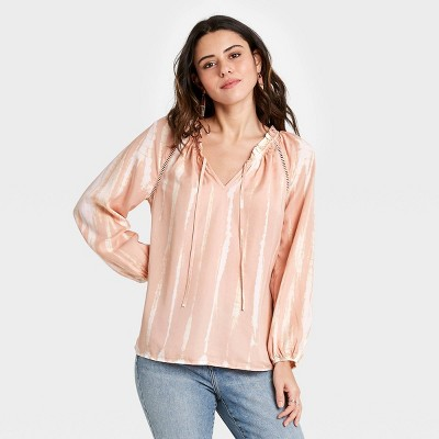 Women's Long Sleeve Ruffle Top - Knox Rose™