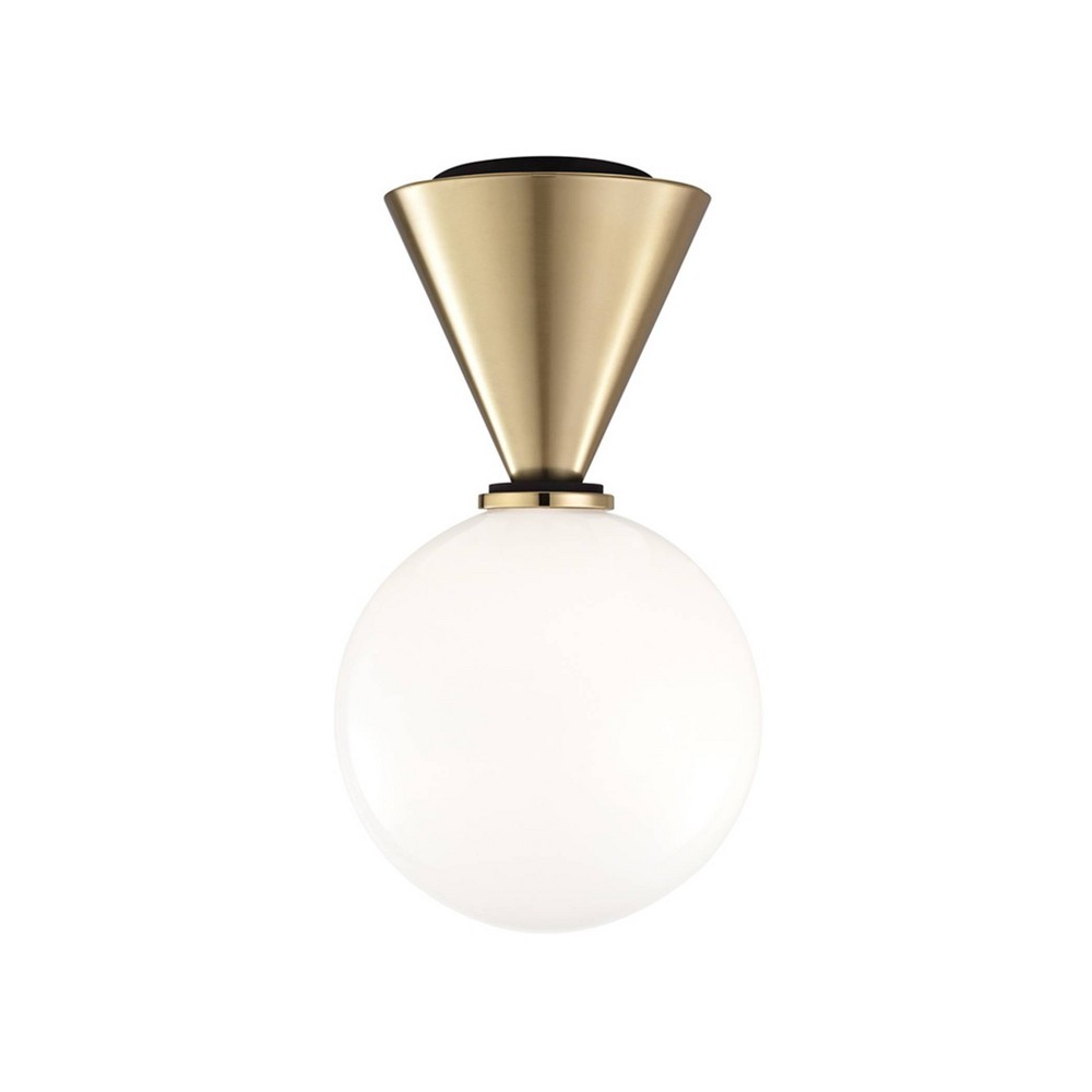 Piper Small LED Flush Mount Chandelier Aged Brass - Mitzi by Hudson Valley Cheap