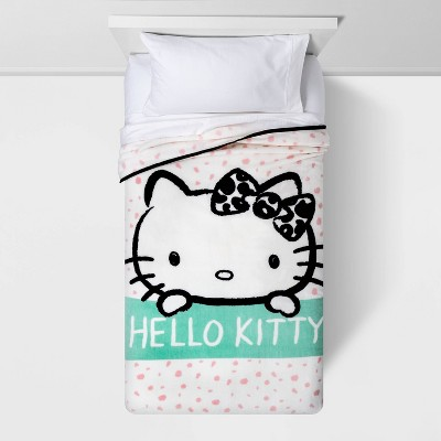 "62""x90"" Hello Kitty Spotted Blanket Pink"