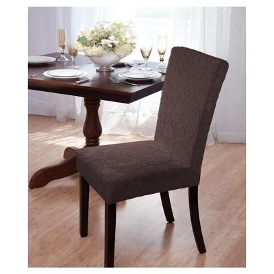 Velvet Damask Dining Room Chair Cover - Madison