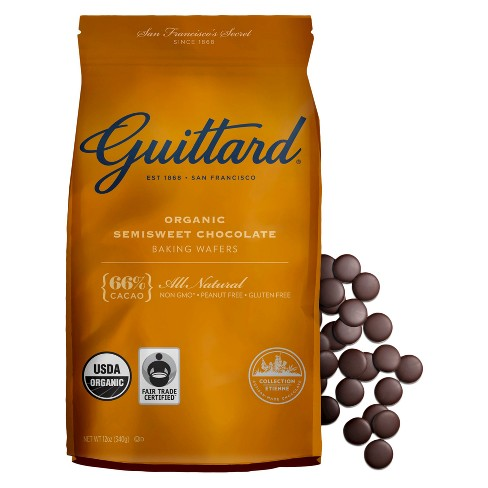 Guittard® Organic Semisweet Chocolate Baking Wafers 12oz - image 1 of 1