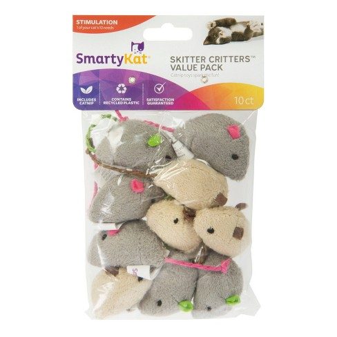 SmartyKat Skitter Critters Cat Toy - 10pk - image 1 of 4