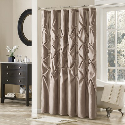 Shower Curtain Solid Taupe Brown