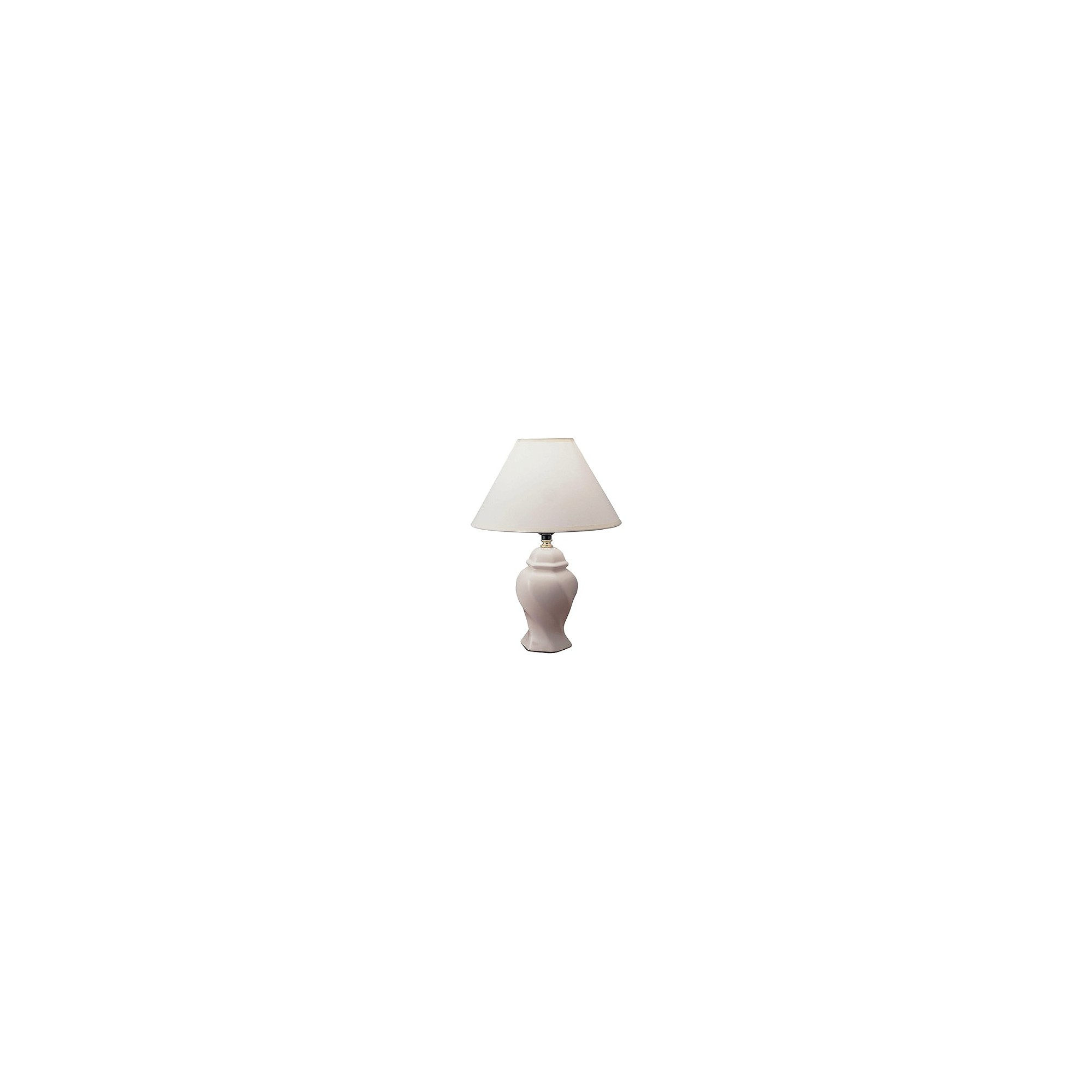 Ceramic Table Lamp - Ivory (Lamp Only)
